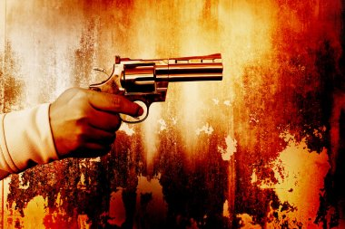 Killer with gun,Color dramatic look