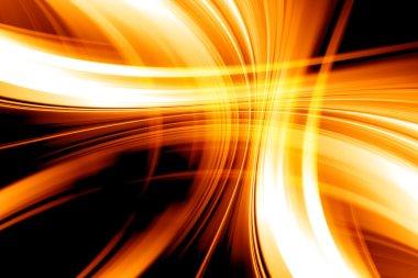 Abstract Art Curved Orange Background Design