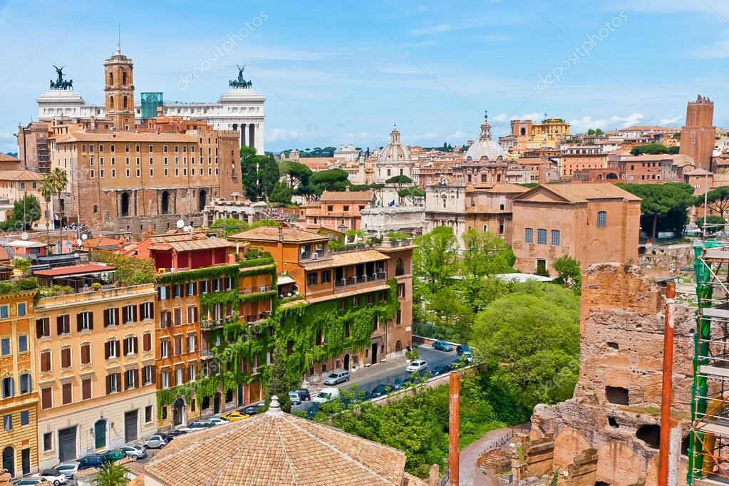 View of Rome city scape.