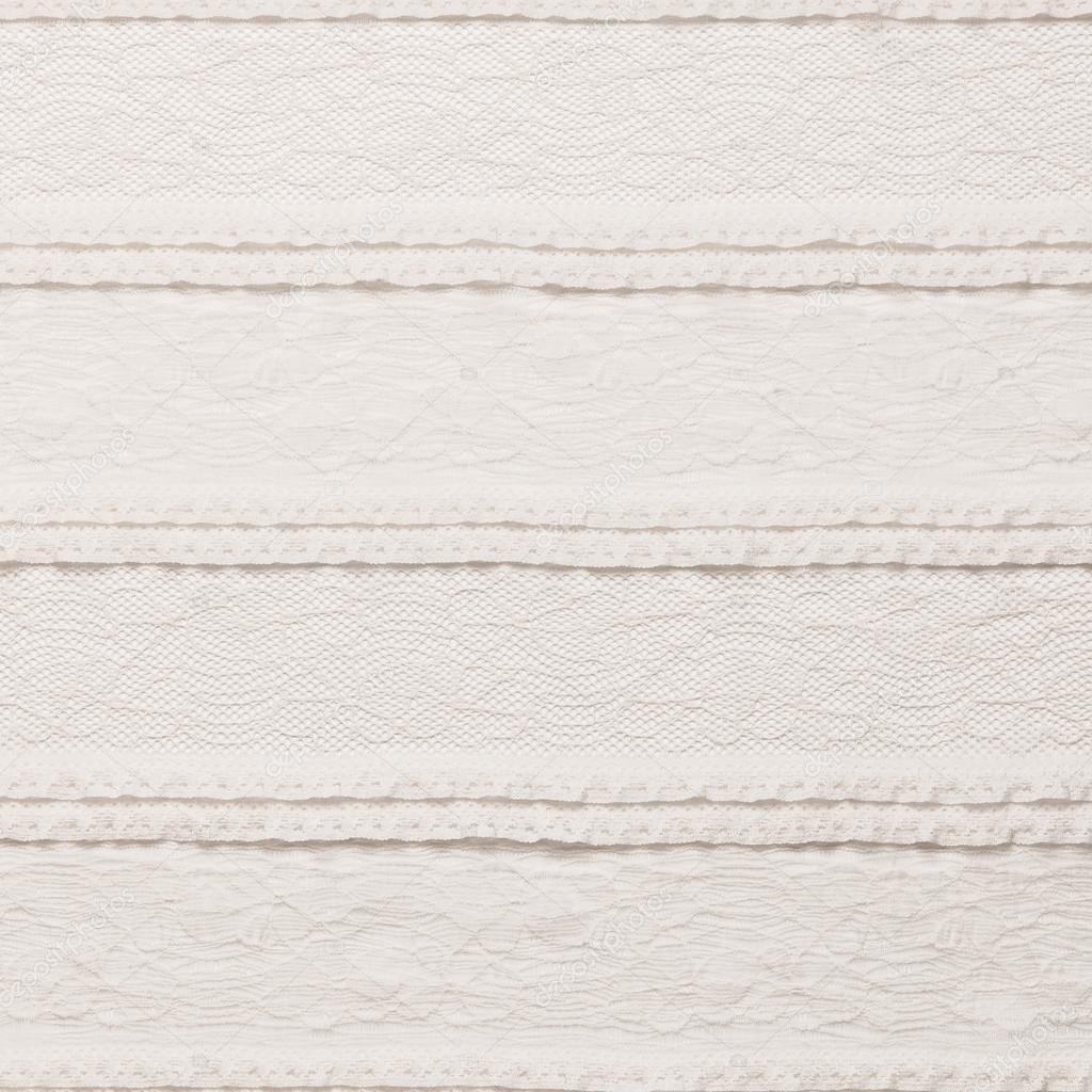 Tessuto Di Pizzo Avorio Su Sfondo Bianco Foto Stock Volgariver
