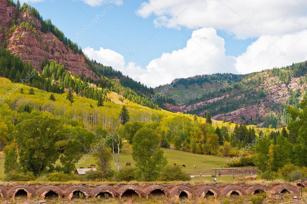 Autumn mountain  landscape in Colorado, USA.