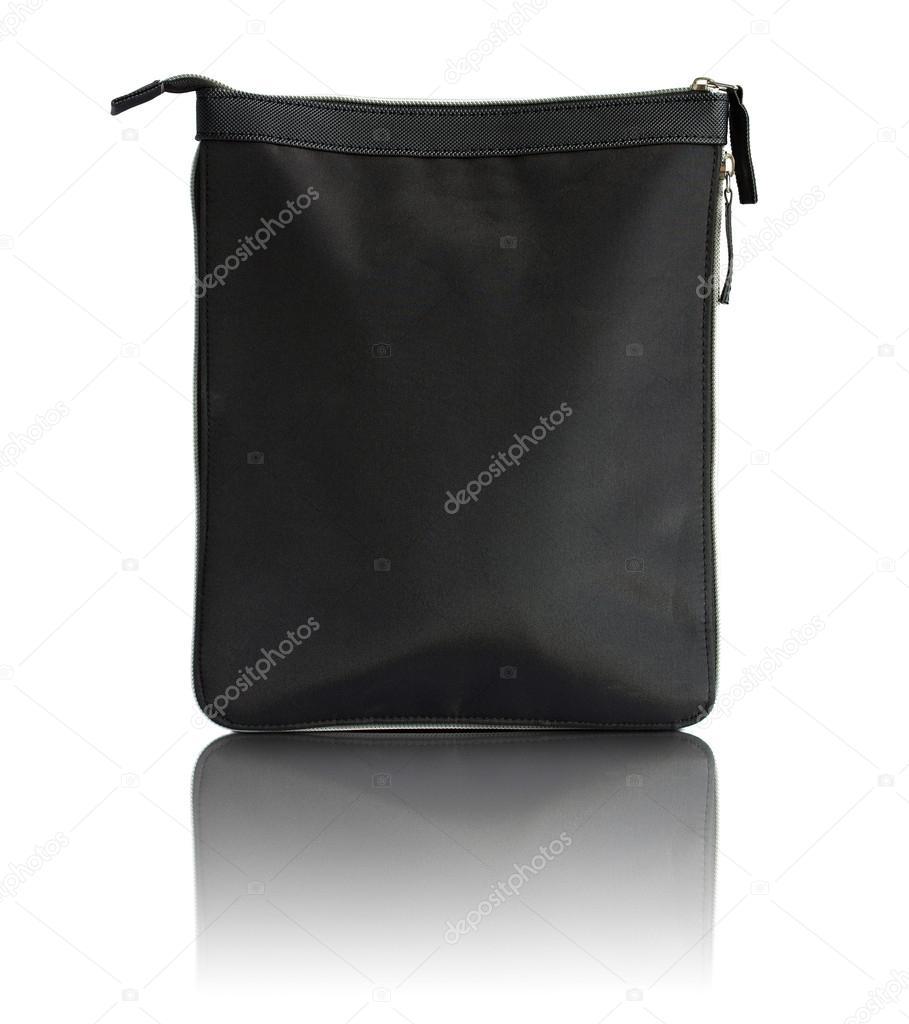 a4984ed8c5c6d schwarze Tasche mit Reißverschluss