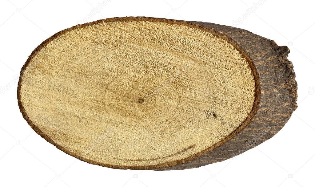 Ceppo di albero isolato su bianco con il percorso di for Piani moderni della cabina di ceppo