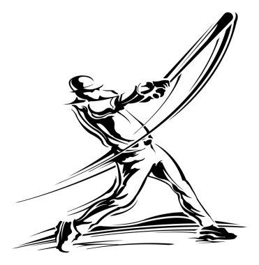 Illustration of Baseball pitcher