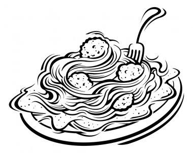Illustration of Spaghetti and meatballs