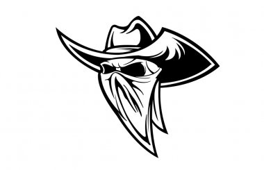 Scary Cowboy skull