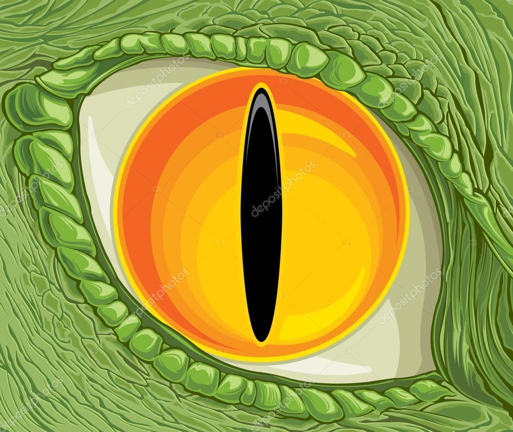 Olhos De Desenho Animado De Dinossauro