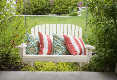 Beautiful front porch swing