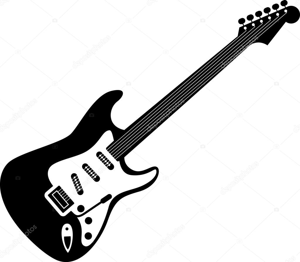 Electric Guitar Icon Stock Vector C Lkeskinen0 112481142