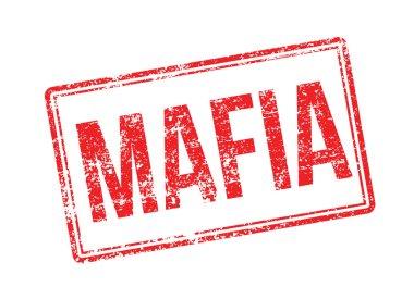 Mafia red rubber stamp on white