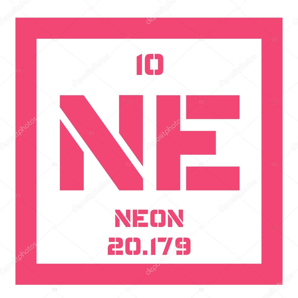 Neon chemical element stock vector lkeskinen0 124555220 neon chemical element belongs to noble gases group of the periodic table colorless odorless and inert gas vector by lkeskinen0 gamestrikefo Images