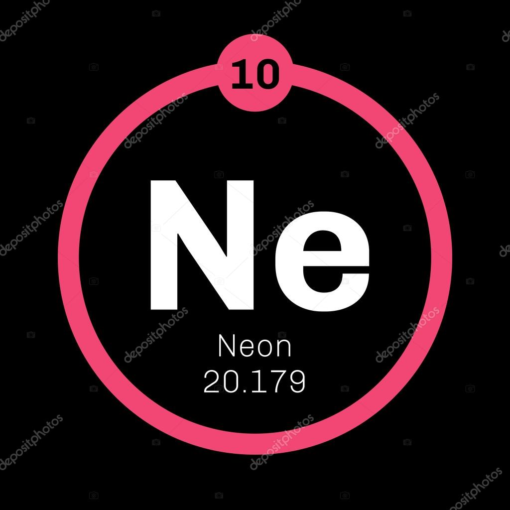 neon chemical element belongs to noble gases group of the periodic table colorless odorless and inert gas vector by lkeskinen0 - Periodic Table Of Elements Neon