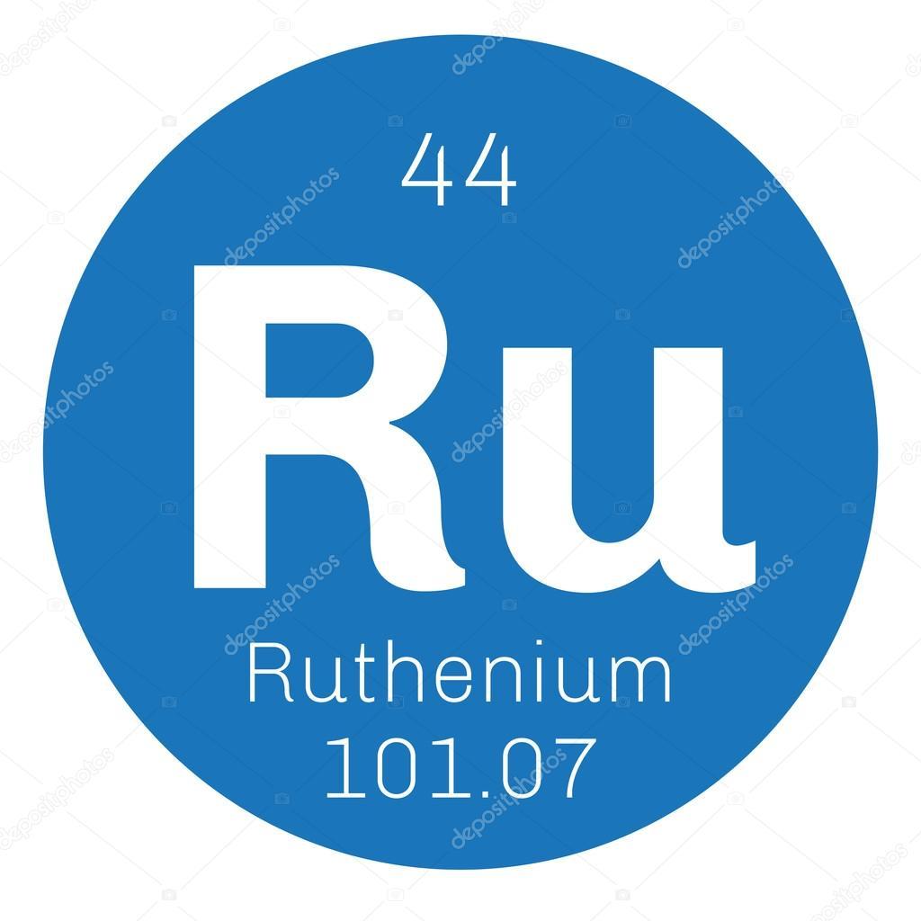 Ruthenium Chemical Element Stock Vector Lkeskinen0 124555426