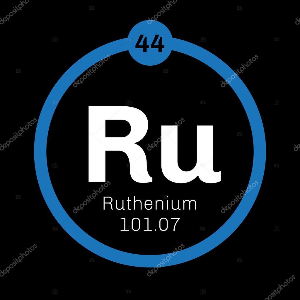 Ruthenium Chemical Element Stock Vector Lkeskinen0 124555434