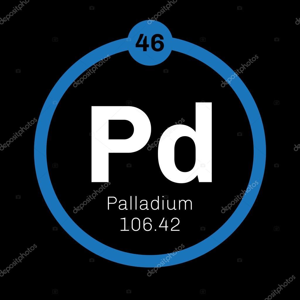 Palladium Chemical Element Stock Vector Lkeskinen0 124555590