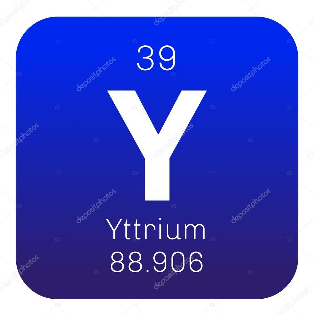 Yttrium Chemical Element Stock Vector Lkeskinen0 124555724