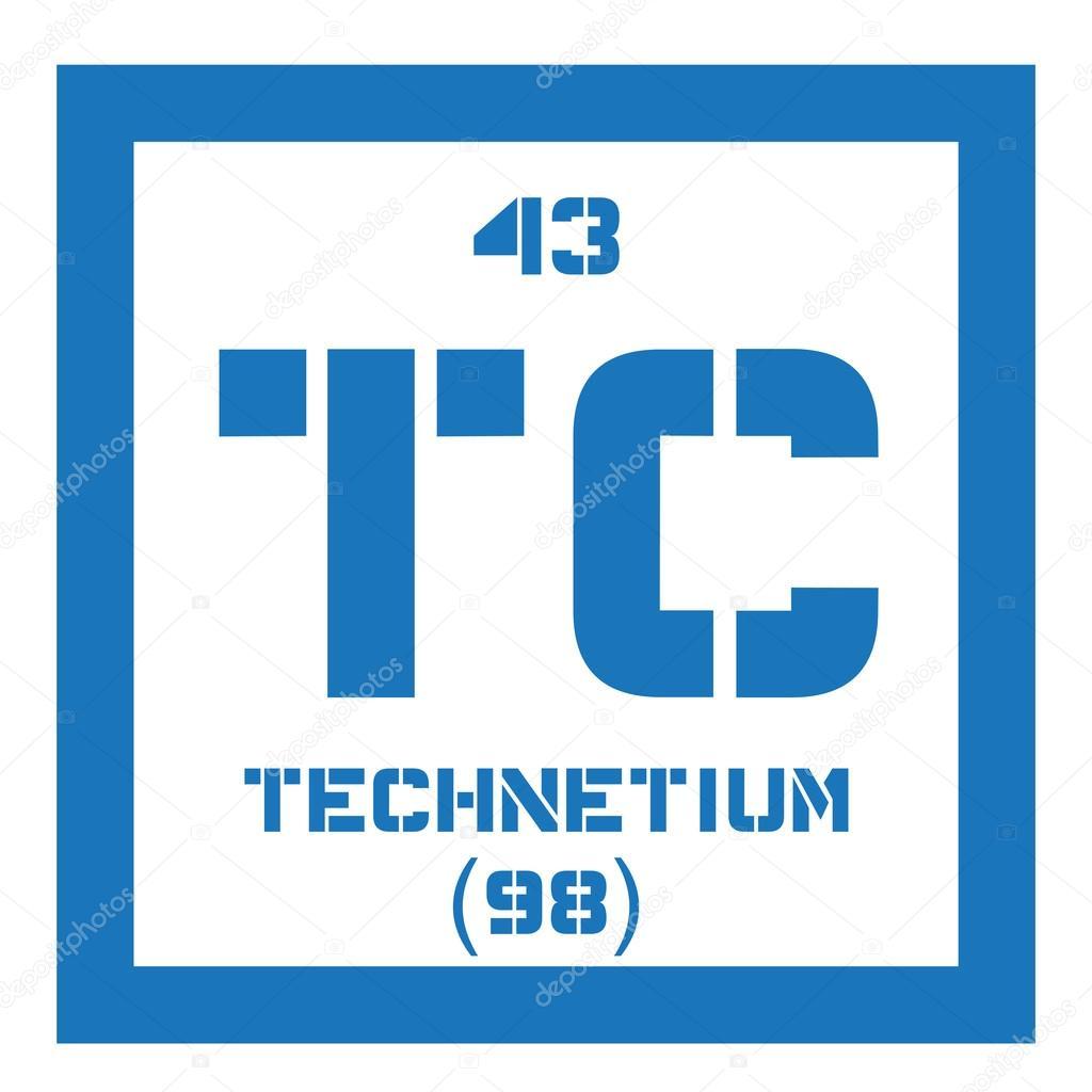 Technetium Chemical Element Stock Vector Lkeskinen0 124555808