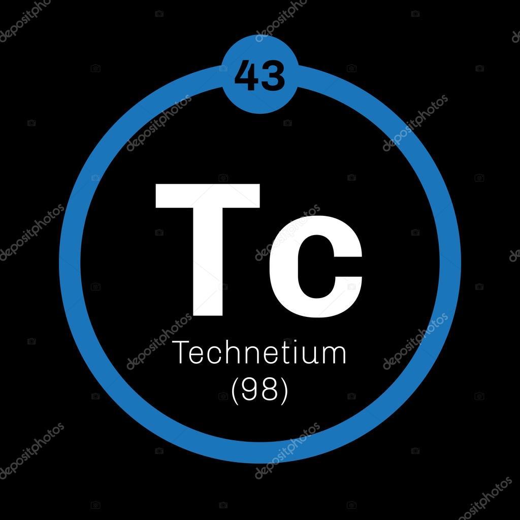Technetium Chemical Element Stock Vector Lkeskinen0 124555818