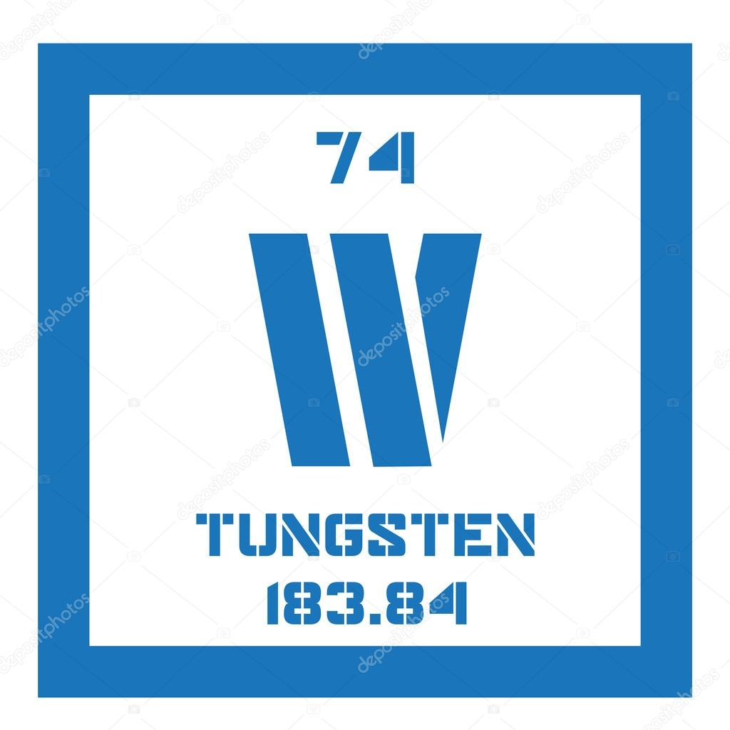 Tungsten chemical element stock vector lkeskinen0 124555824 tungsten chemical element also known as wolfram colored icon with atomic number and atomic weight chemical element of periodic table gamestrikefo Choice Image