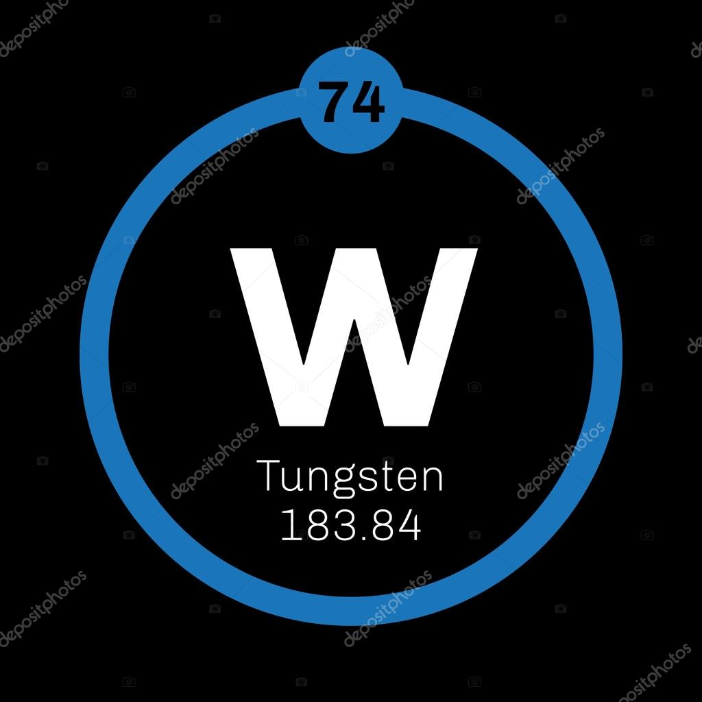 Tungsten chemical element stock vector lkeskinen0 124555826 tungsten chemical element also known as wolfram colored icon with atomic number and atomic weight chemical element of periodic table gamestrikefo Choice Image