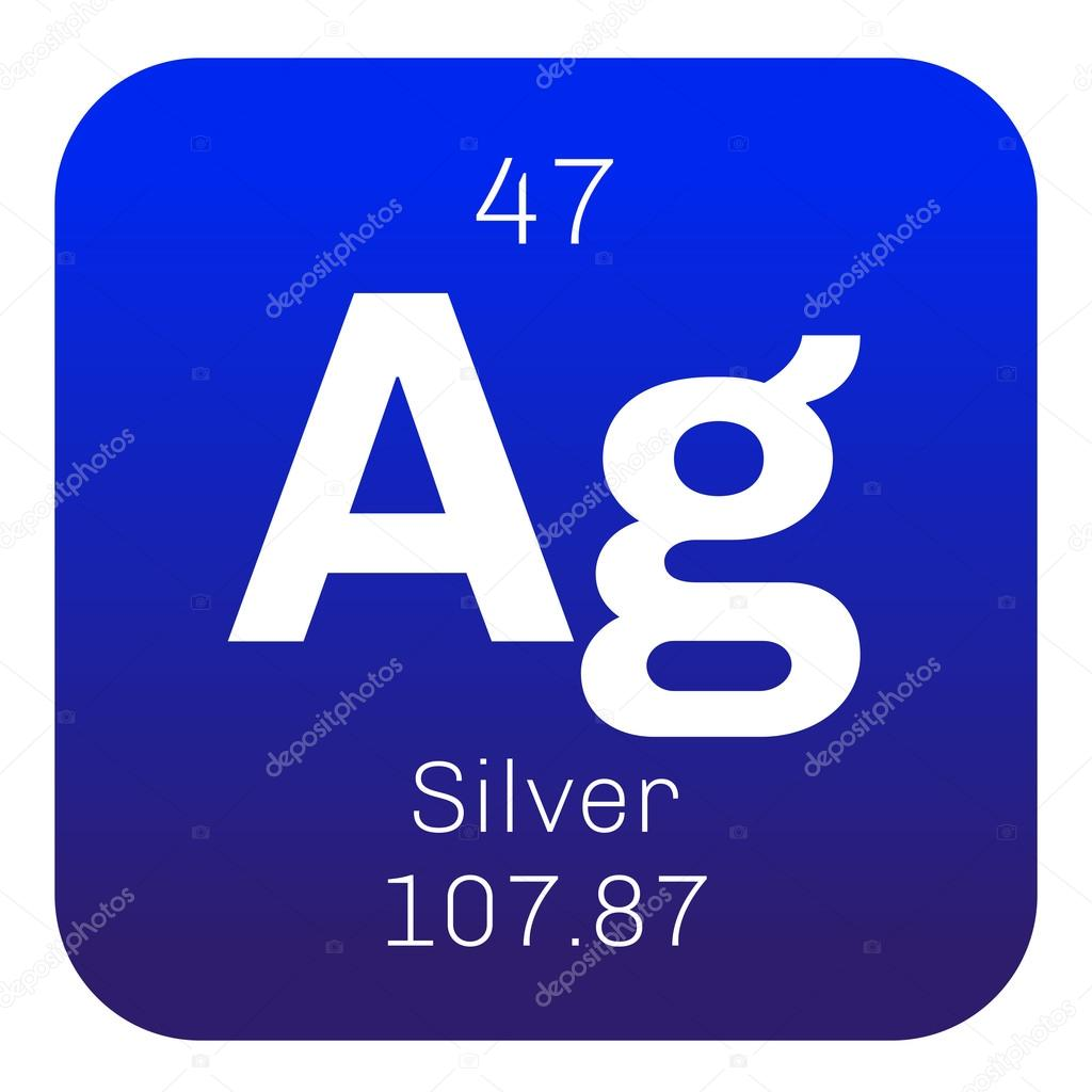 Silver chemical element stock vector lkeskinen0 124555874 silver chemical element precious metal colored icon with atomic number and atomic weight chemical element of periodic table vector by lkeskinen0 urtaz Image collections