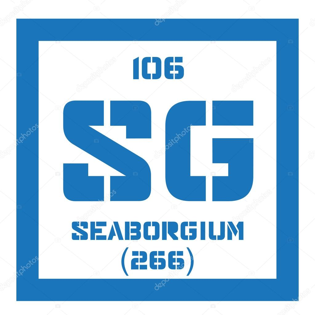 Seaborgium Chemical Element Stock Vector Lkeskinen0 124555930