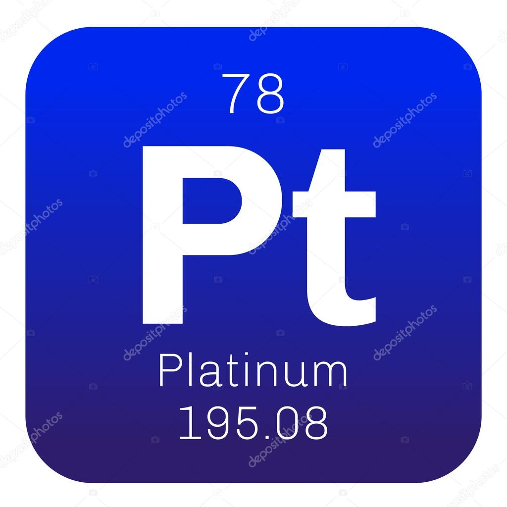 of symbol platinum chemical the eps from table periodic element