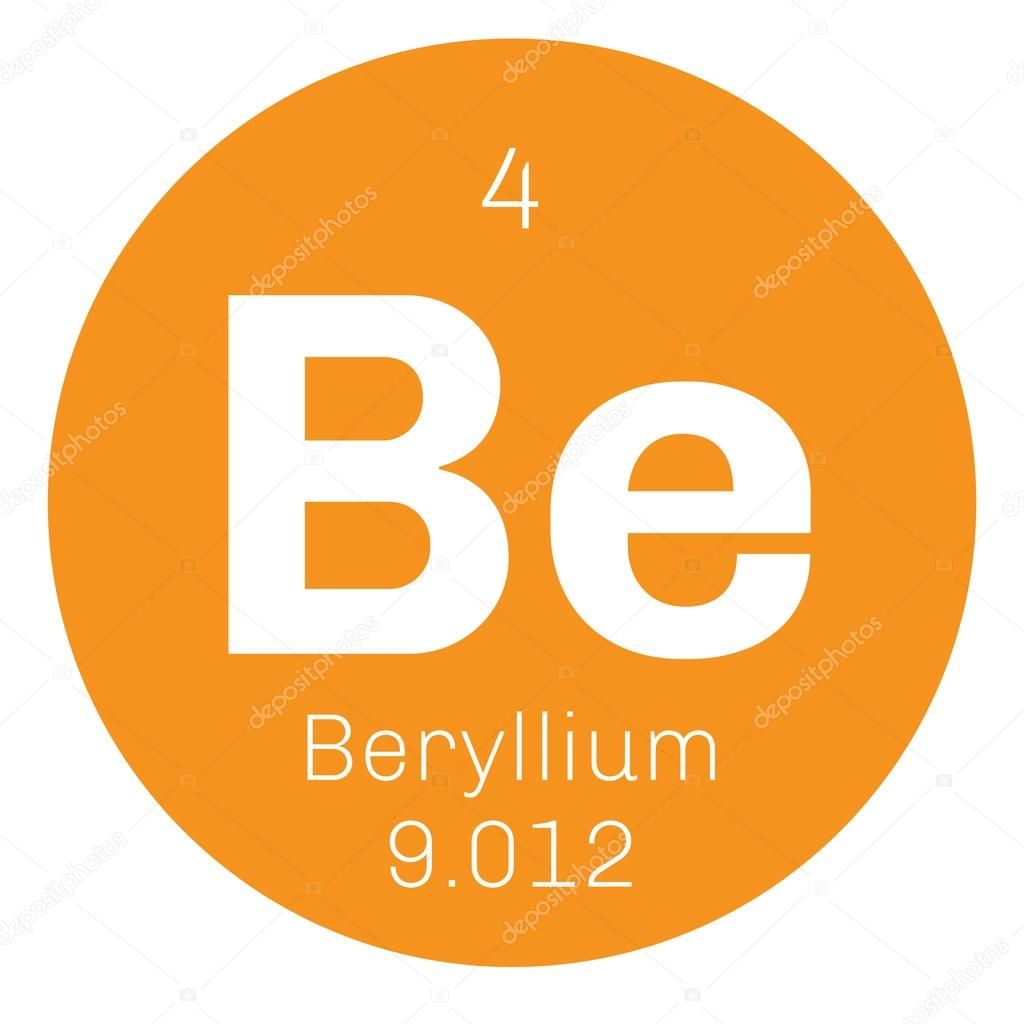 Beryllium chemical element stock vector lkeskinen0 124556028 beryllium chemical element a rare element colored icon with atomic number and atomic weight chemical element of periodic table vector by lkeskinen0 biocorpaavc Images