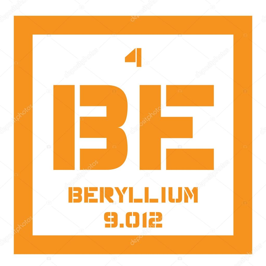 Beryllium chemical element stock vector lkeskinen0 124556030 beryllium chemical element a rare element colored icon with atomic number and atomic weight chemical element of periodic table vector by lkeskinen0 urtaz