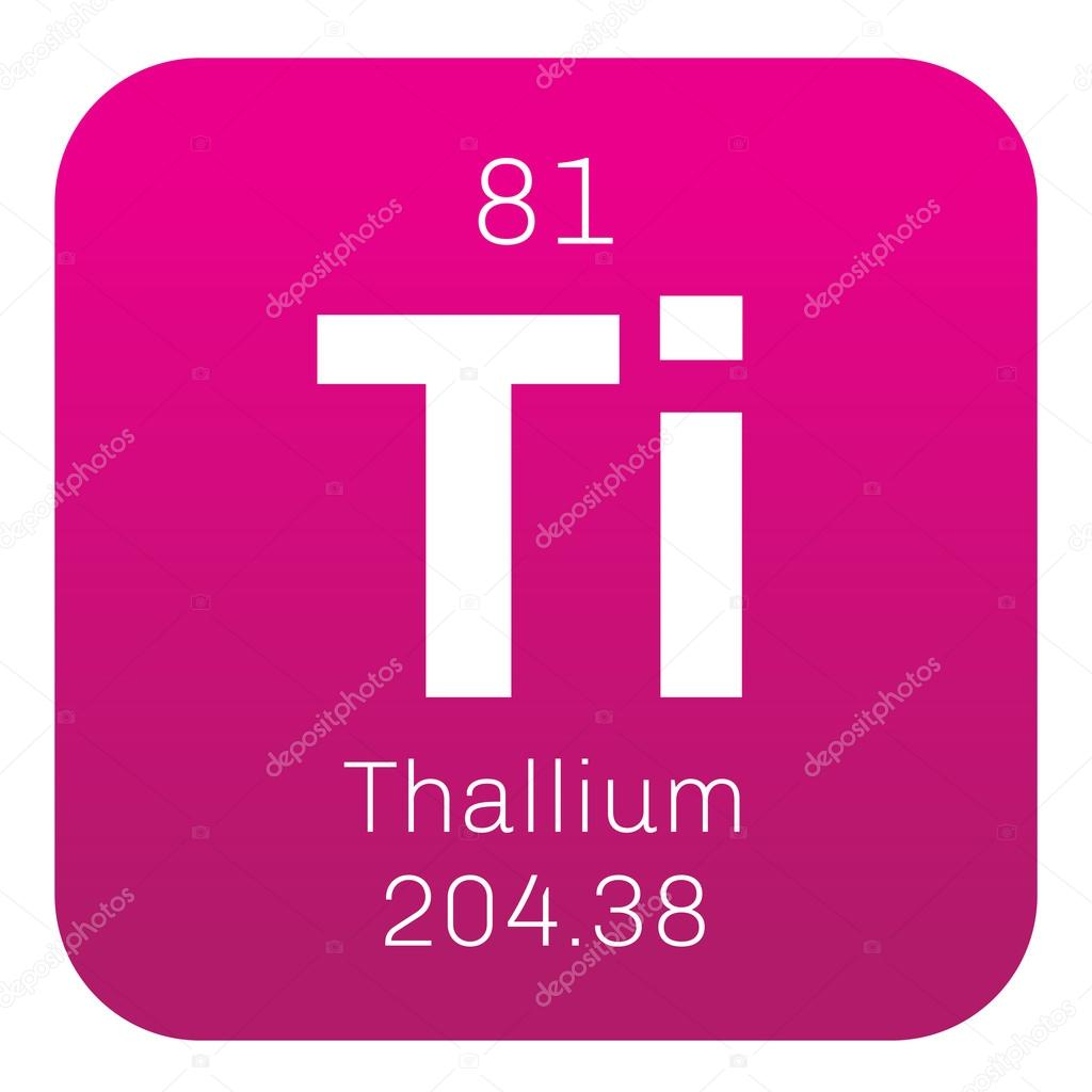 Thallium chemical element stock vector lkeskinen0 124556164 thallium chemical element soft gray post transition metal colored icon with atomic number and atomic weight chemical element of periodic table urtaz Choice Image