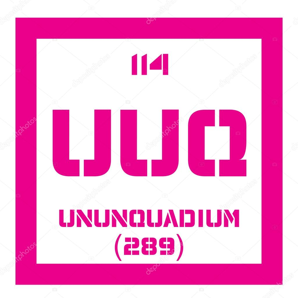 ununquadium chemical element science symbol chemistry colored icon with atomic number and atomic weight chemical element of periodic table - Periodic Table Symbol Ununquadium