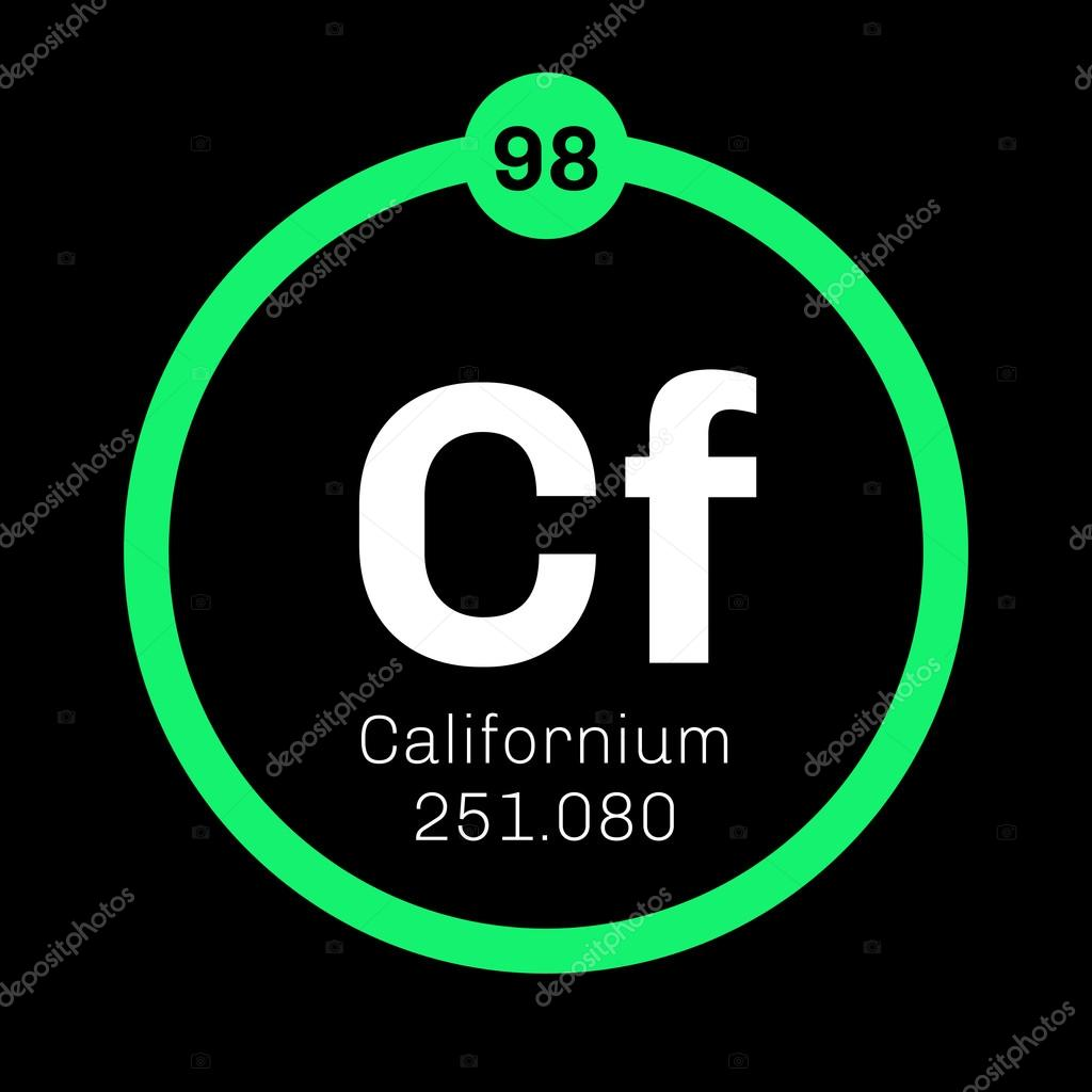Californium chemical element stock vector lkeskinen0 124556448 californium chemical element californium is an actinide element colored icon with atomic number and atomic weight chemical element of periodic table gamestrikefo Images