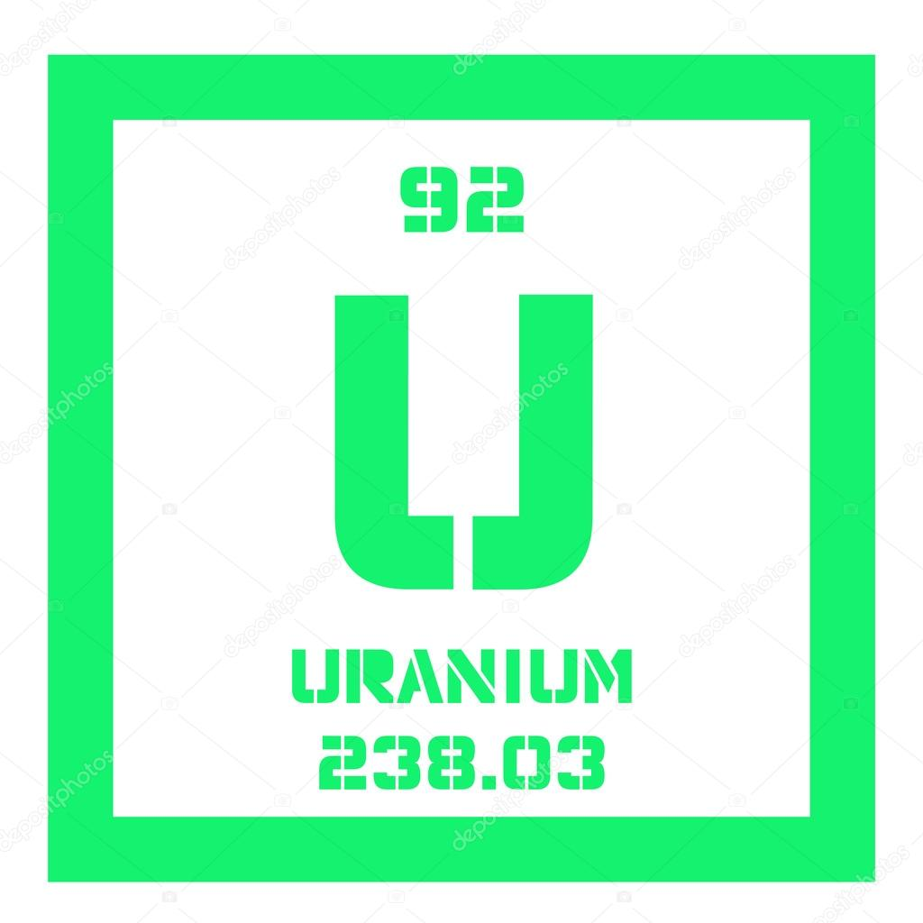uranium chemical element uranium is weakly radioactive metal colored icon with atomic number and atomic weight chemical element of periodic table - Periodic Table Of Elements Uranium