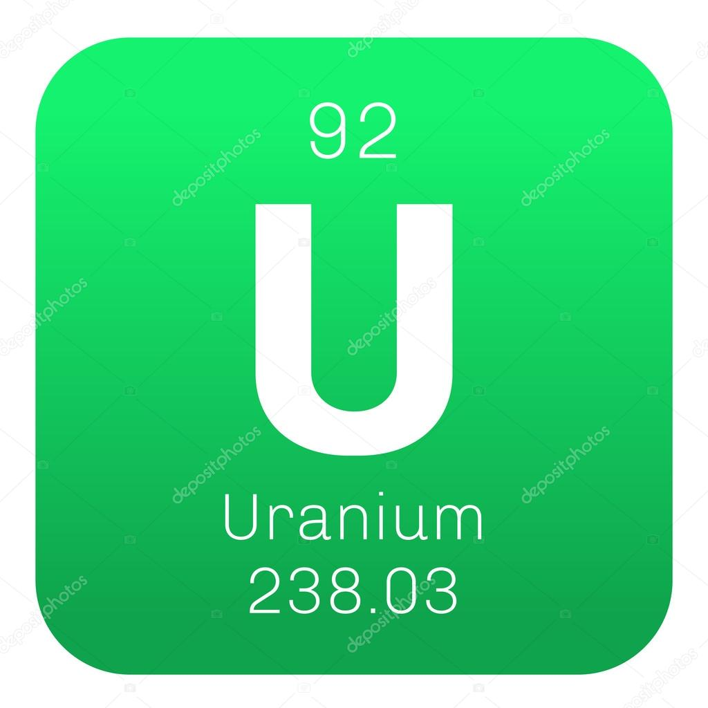Uranium chemical element stock vector lkeskinen0 124556522 uranium chemical element uranium is weakly radioactive metal colored icon with atomic number and atomic weight chemical element of periodic table gamestrikefo Image collections