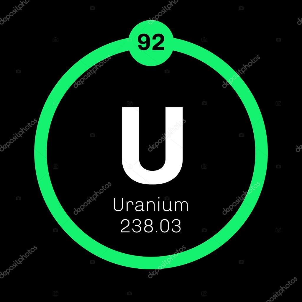 Uranium chemical element stock vector lkeskinen0 124556524 uranium chemical element uranium is weakly radioactive metal colored icon with atomic number and atomic weight chemical element of periodic table urtaz Choice Image