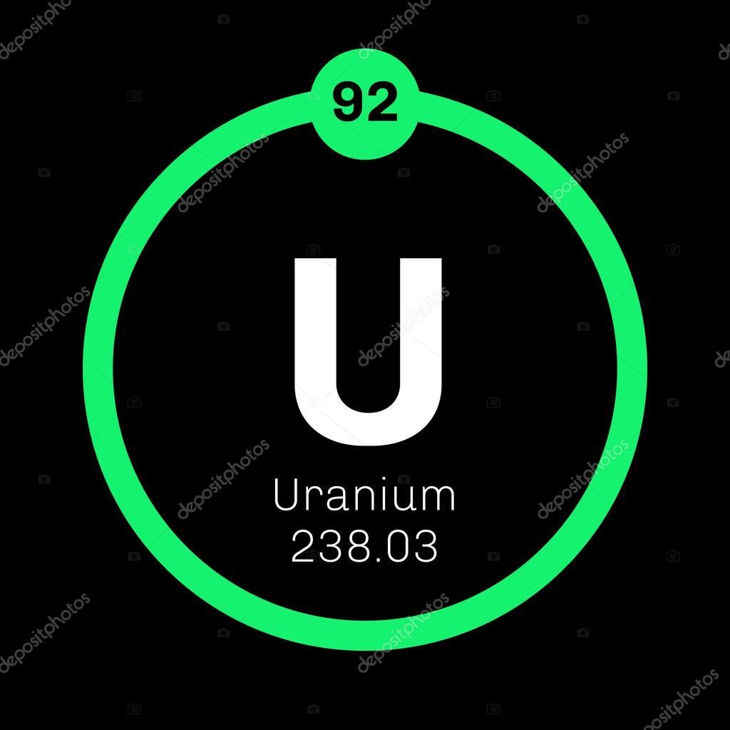 Uranium chemical element stock vector lkeskinen0 124556524 uranium chemical element stock vector buycottarizona Images