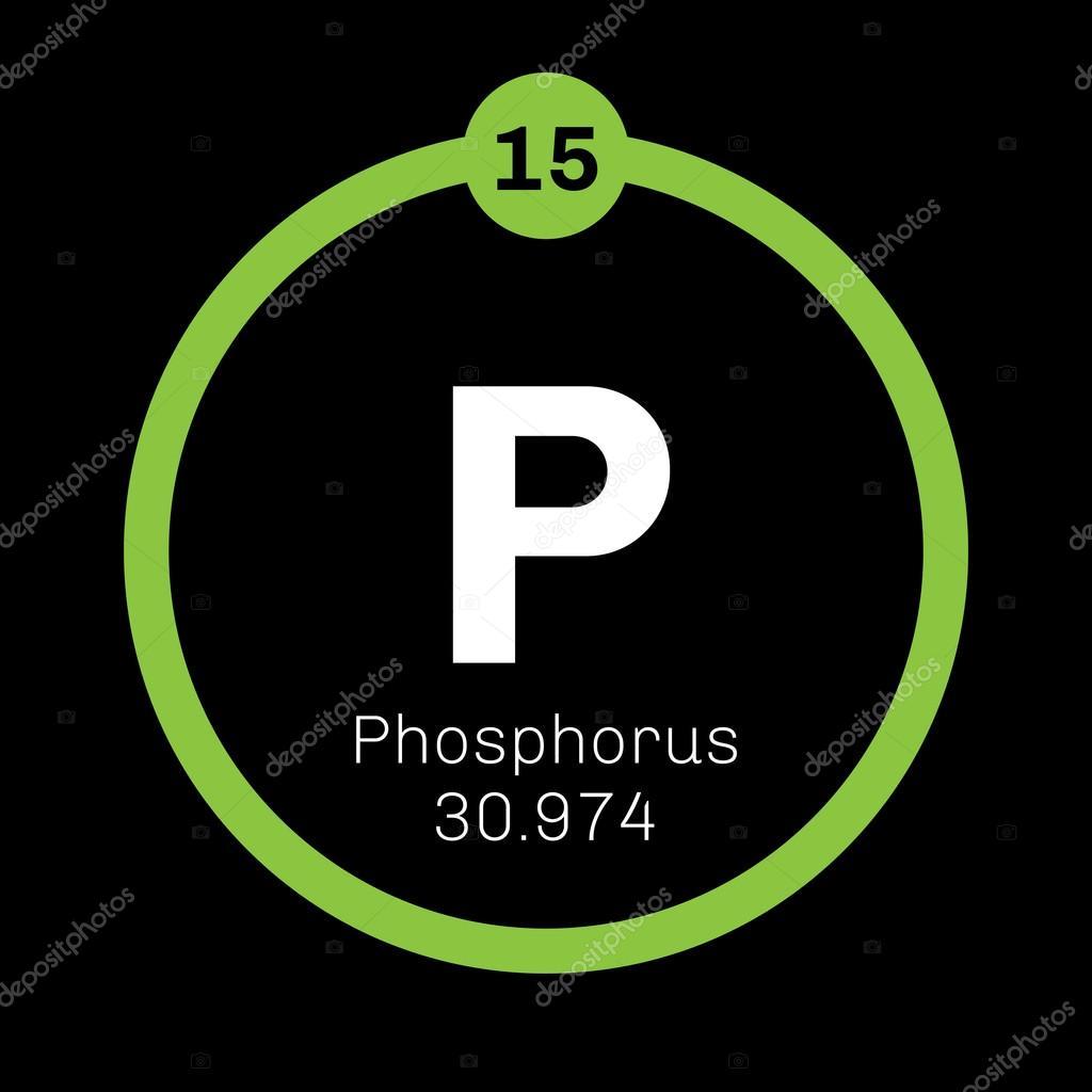 Phosphorus Chemical Element Stock Vector Lkeskinen0 124556660