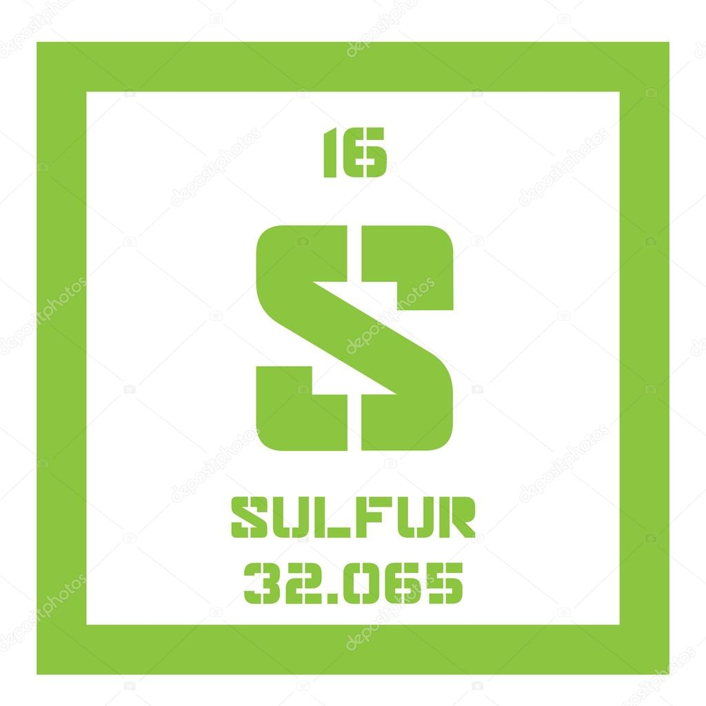 Sulfur chemical element stock vector lkeskinen0 124556710 sulfur chemical element abundant non metal element colored icon with atomic number and atomic weight chemical element of periodic table gamestrikefo Gallery