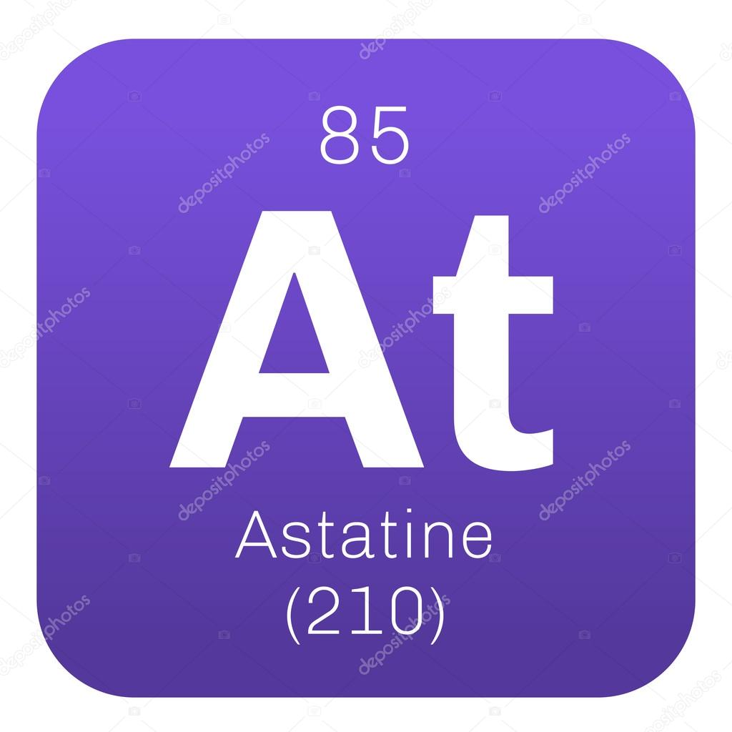 Astatine chemical element stock vector lkeskinen0 124556768 astatine chemical element radioactive chemical element colored icon with atomic number and atomic weight chemical element of periodic table urtaz Image collections
