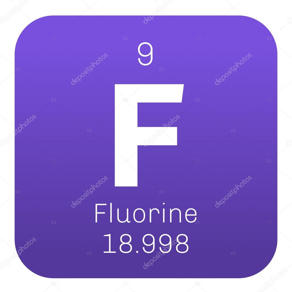 Fluorine chemical element stock vector lkeskinen0 124556780 fluorine chemical element the most electronegative element colored icon with atomic number and atomic weight chemical element of periodic table gamestrikefo Image collections