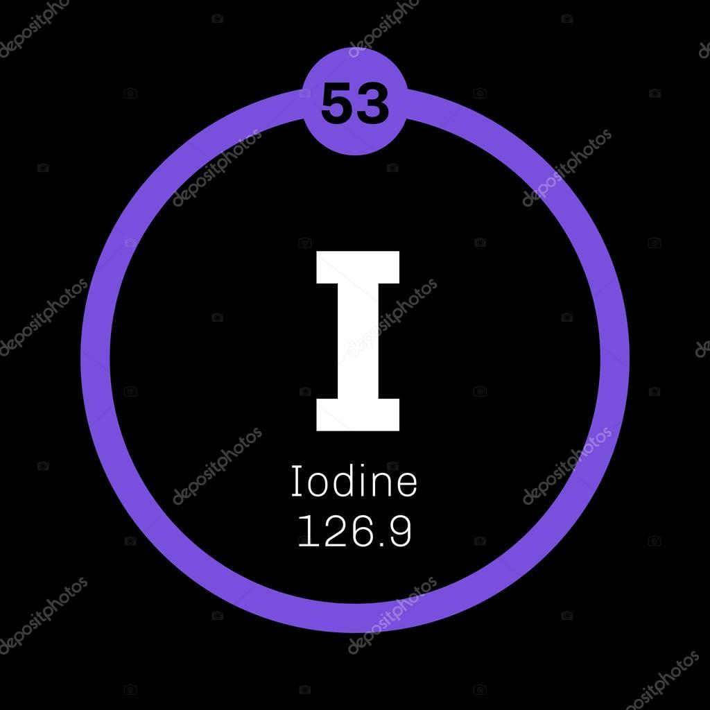 Iodine Chemical Element Stock Vector Lkeskinen0 124556844