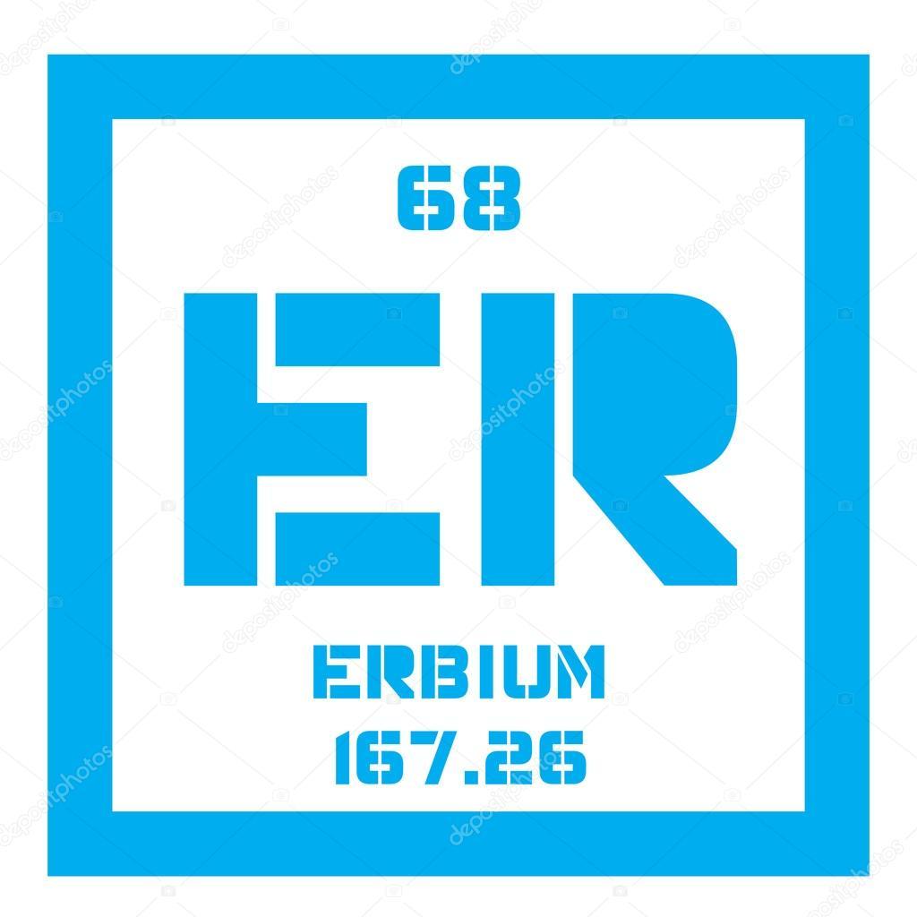 Erbium Chemical Element Stock Vector Lkeskinen0 124556906