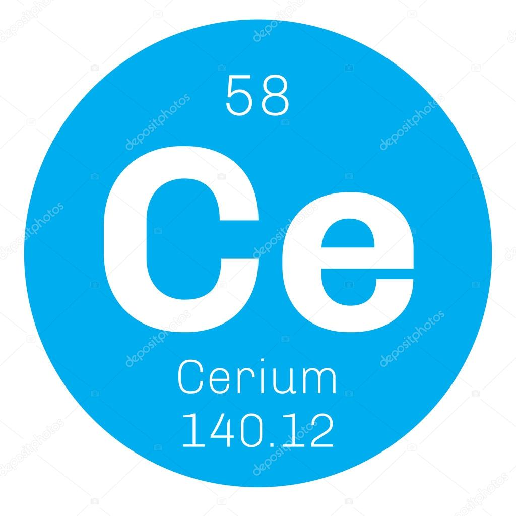 Cerium chemical element stock vector lkeskinen0 124557004 cerium chemical element most common of the lanthanides colored icon with atomic number and atomic weight chemical element of periodic table urtaz Image collections
