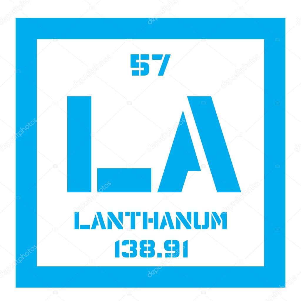 Elemento qumico lantano vector de stock lkeskinen0 124557036 elemento qumico del lantano elemento qumico metlico suave icono color por nmero atmico y peso atmico elemento qumico de tabla peridica vector urtaz Choice Image