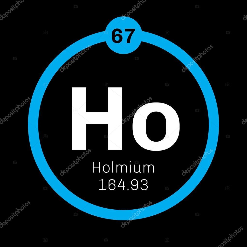 Holmium Chemical Element Stock Vector Lkeskinen0 124557072