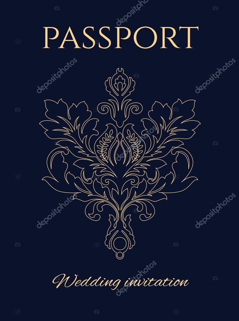 Wedding invitation passport stock vector lkeskinen0 81427906 wedding invitation passport stock vector stopboris Gallery