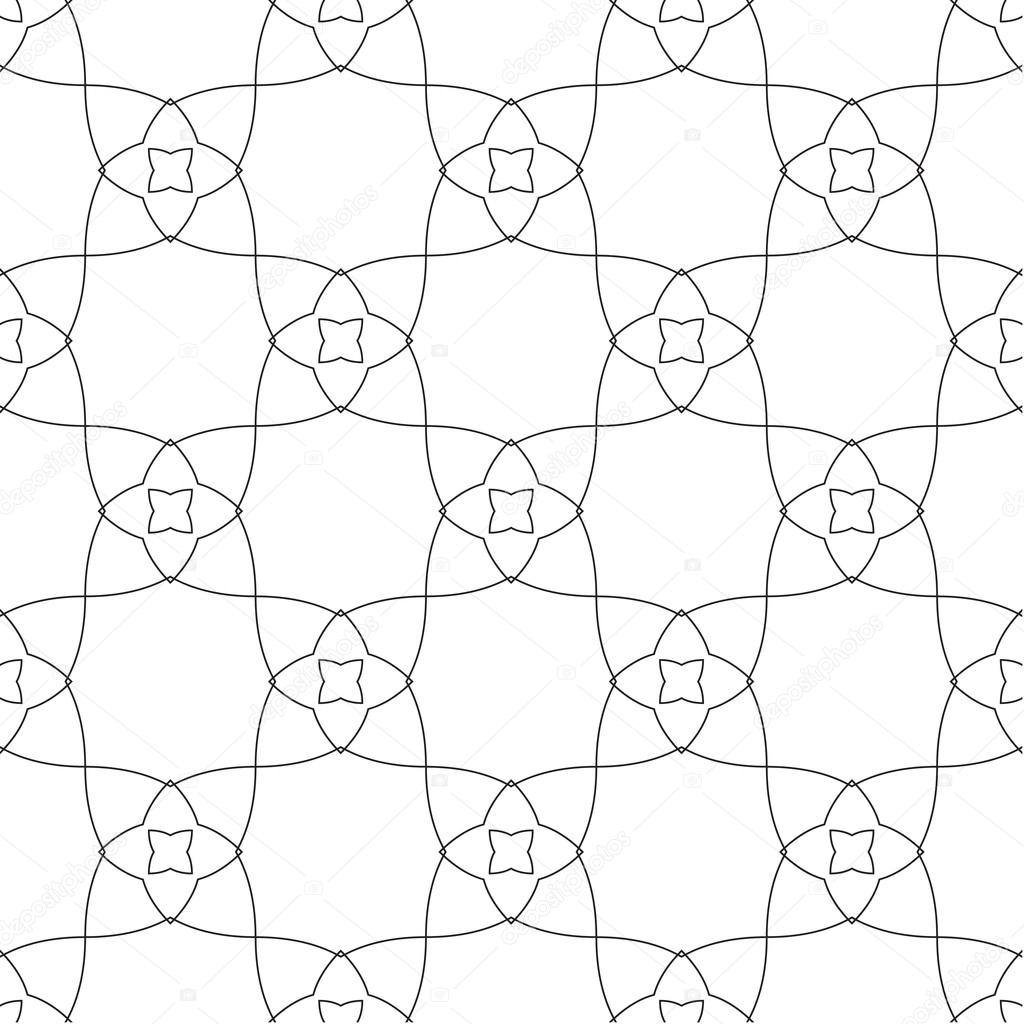 Abstract Symmetrical Geometric Shapes Black And White Floral Vector Textile  Backdrop. Can Be Use As Fabric Pattern U2014 Vector By Flas100