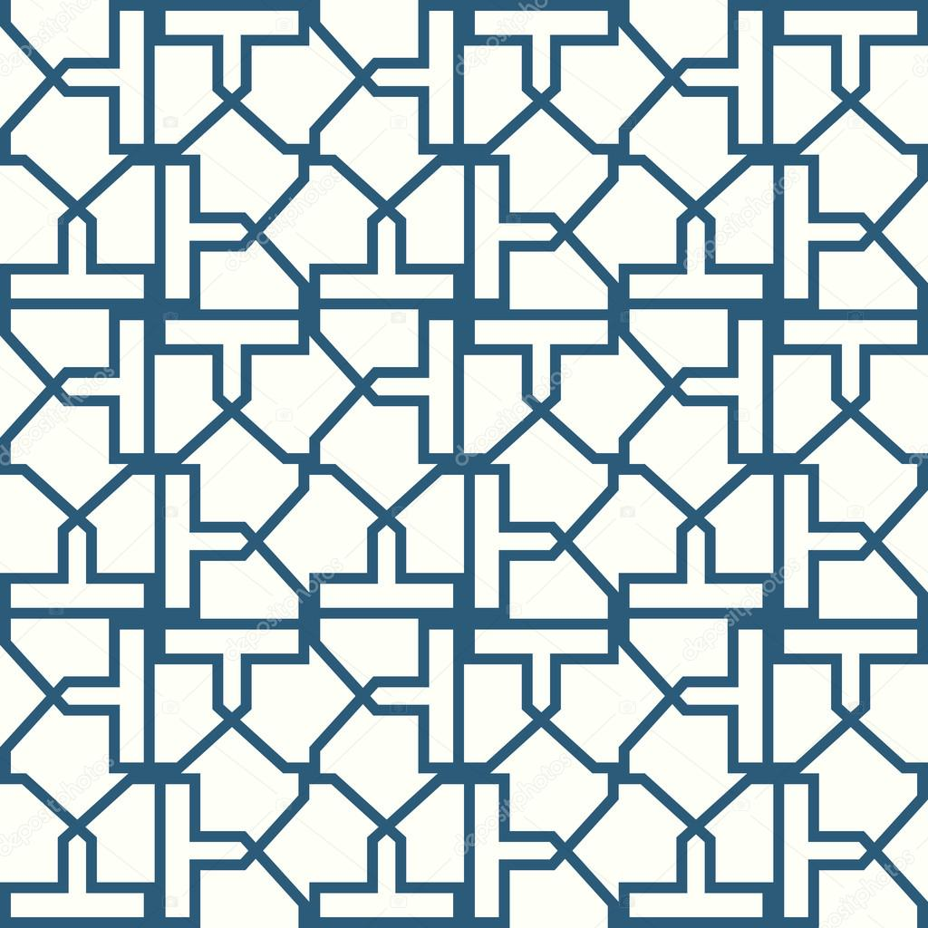 Abstract Symmetrical Geometric Shapes Blue And White Vector Textile  Backdrop. Can Be Use As Fabric Pattern U2014 Vector By Flas100
