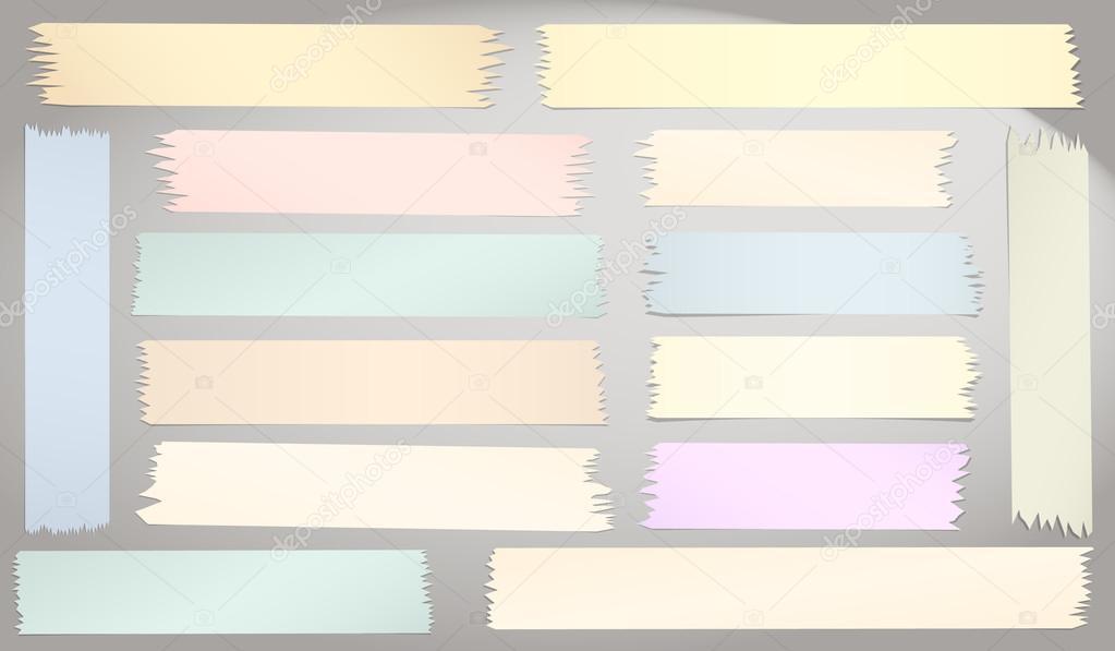 Marco con cinta adhesiva de tamaño horizontal y diferentes, piezas ...