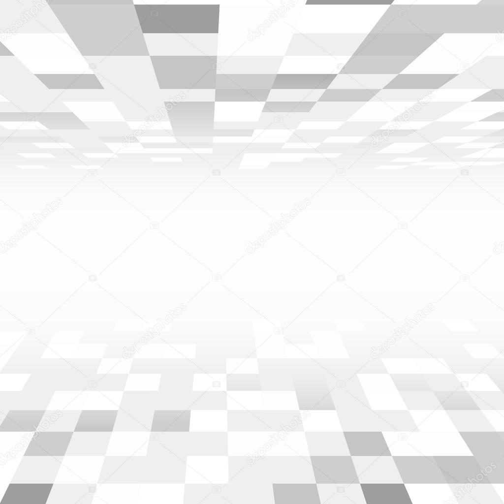 carr de carrelage au sol et au plafond d 39 une salle de perspective image vectorielle flas100. Black Bedroom Furniture Sets. Home Design Ideas